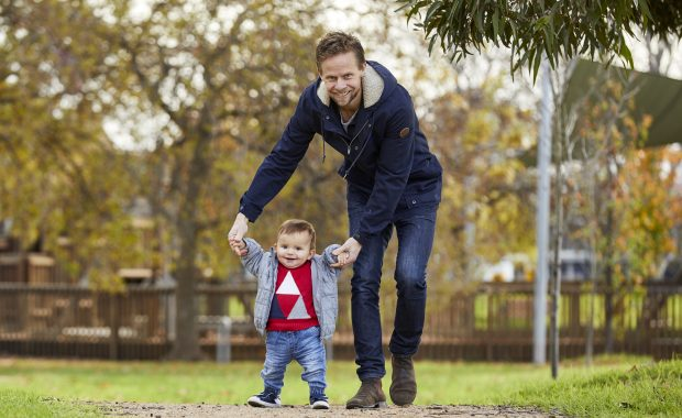 The Dad Train - Scott and son in the park