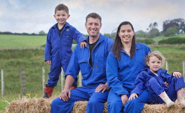 Kane Briscoe and family