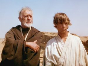 Obi-Wan Kenobi (Mentor) and Luke Skywalker (Mentee)