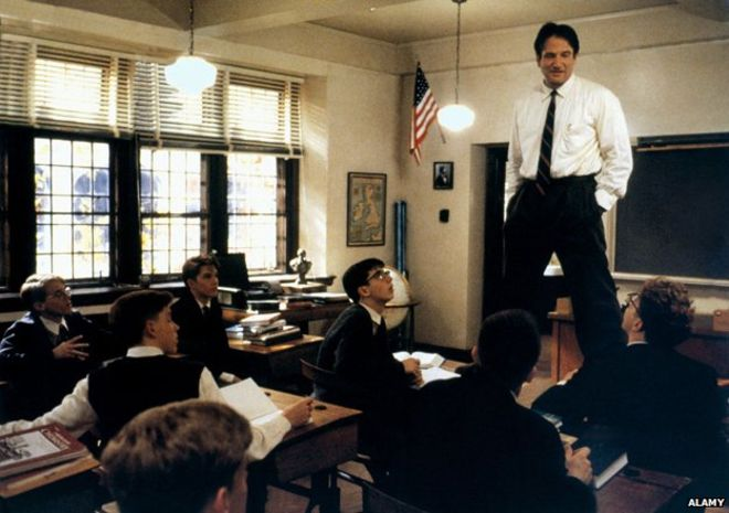Robin Williams role as John Keating in Dead Poets Society