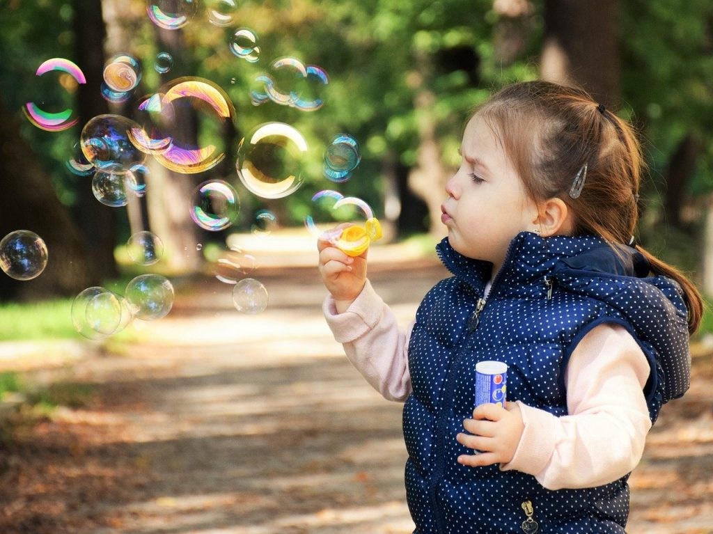 Mindfulness exercise - blowing bubbles